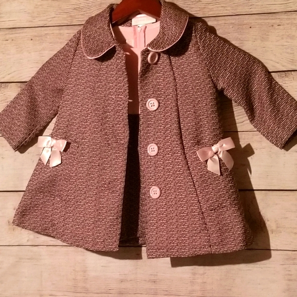 Bonnie Baby 18 month girls dress and jacket pink